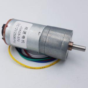 Động cơ DC giảm tốc GA25 Encoder 250rpm
