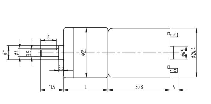 Động cơ giảm tốc GA25 370 12V 35rpm