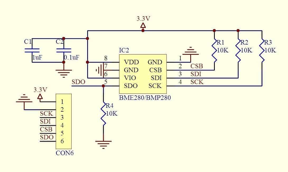 Cảm biến áp suất IIC I2C và nhiệt độ của BMP280 3.3 V