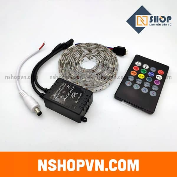 Bộ điều khiển hiệu ứng led RGB 5050 MUSIC IR CONTROLLER kèm 2m LED epoxy chống nước