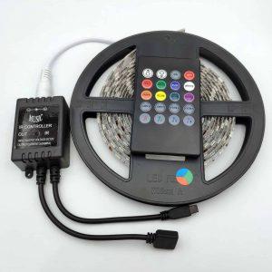 Bộ điều khiển hiệu ứng led RGB 5050 MUSIC IR CONTROLLER kèm 3m LED epoxy chống nước
