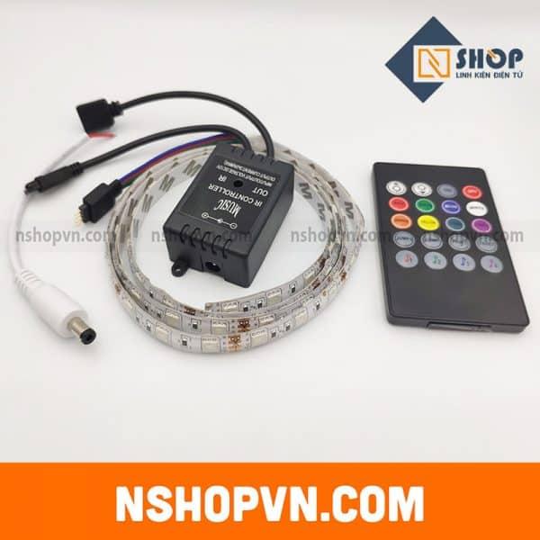 Bộ điều khiển hiệu ứng led RGB 5050 MUSIC IR CONTROLLER kèm 1m LED epoxy chống nước