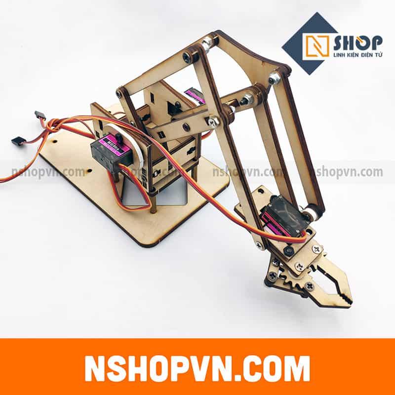 Bộ khung cánh tay robot 4 servo