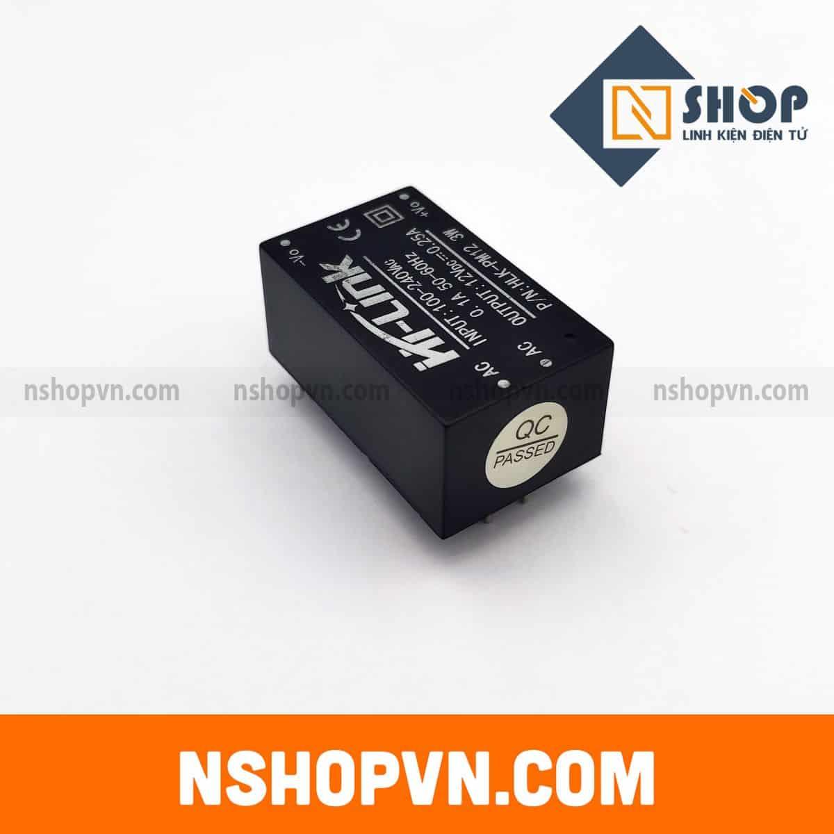 Module Nguồn AC-DC Hi-Link HLK-PM01 12VDC 3W