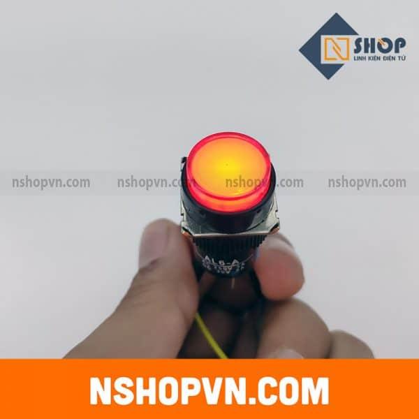 Nút nhấn tự giữ có đèn AL6-A 12V màu đỏ
