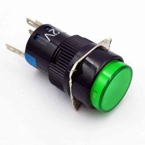 Nút nhấn tự giữ có đèn AL6-A 12V màu xanh lá