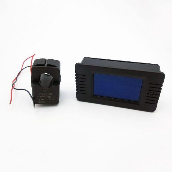Đồng hồ đo điện áp, dòng, công suất, mức năng lượng, tần số AC 100A