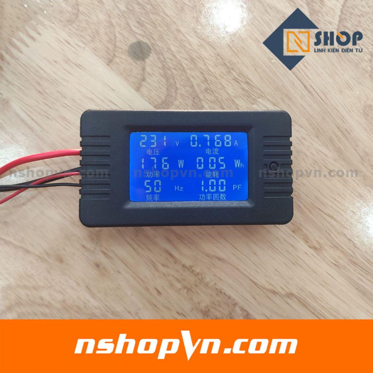 Đồng hồ đo điện áp, dòng, công suất, mức năng lượng, tần số, hệ số công suất 100A