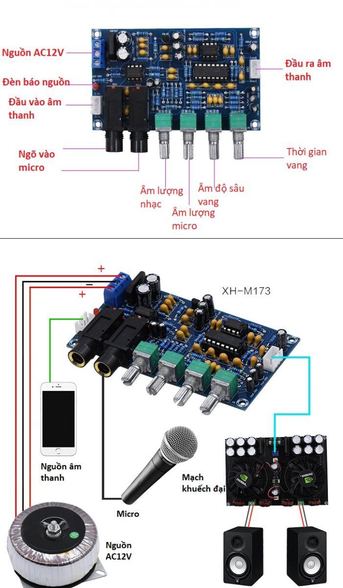Mạch karaoke PT2399 NE5532P AC12V