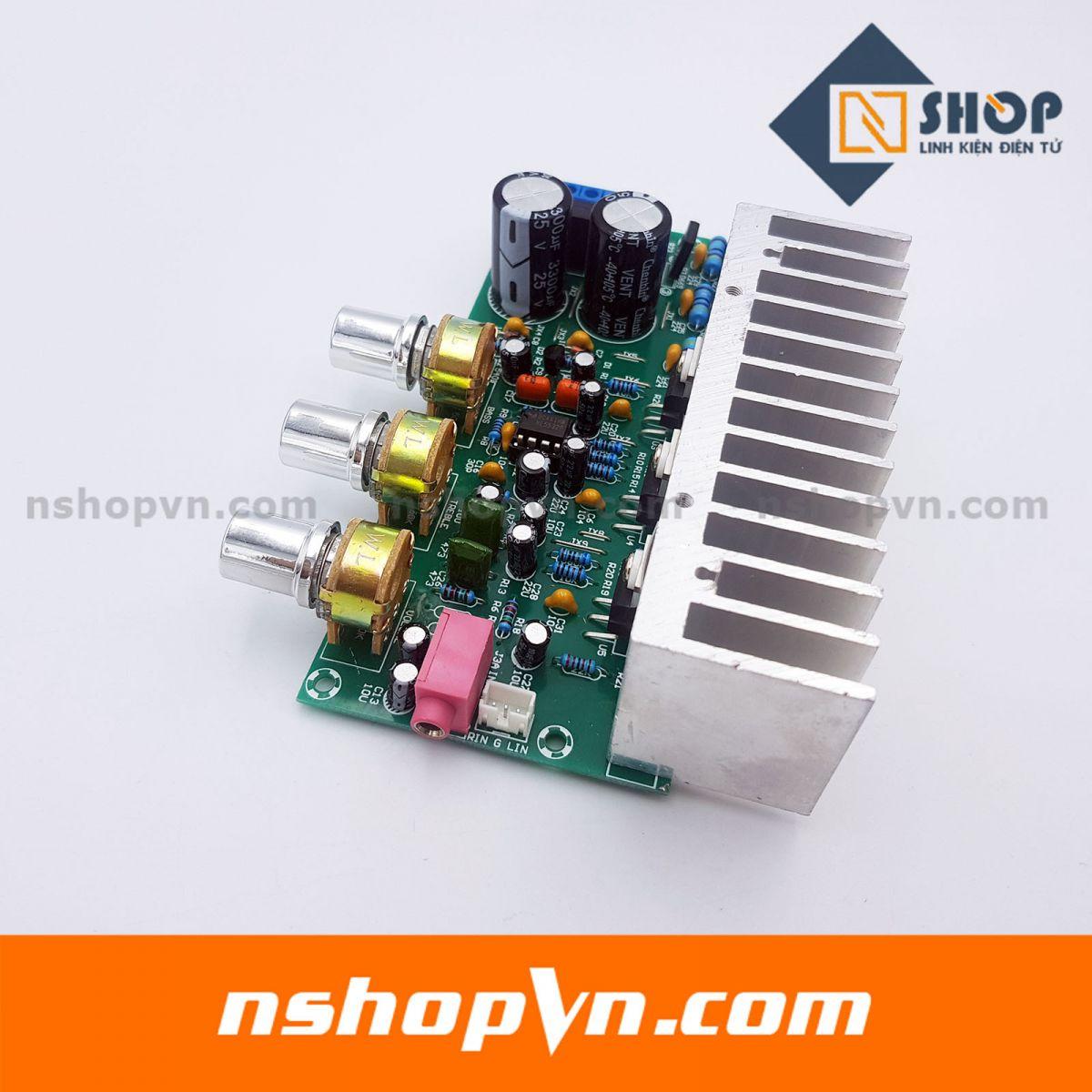 Mạch khuếch đại âm thanh công suất cao TDA2050 + TDA2030