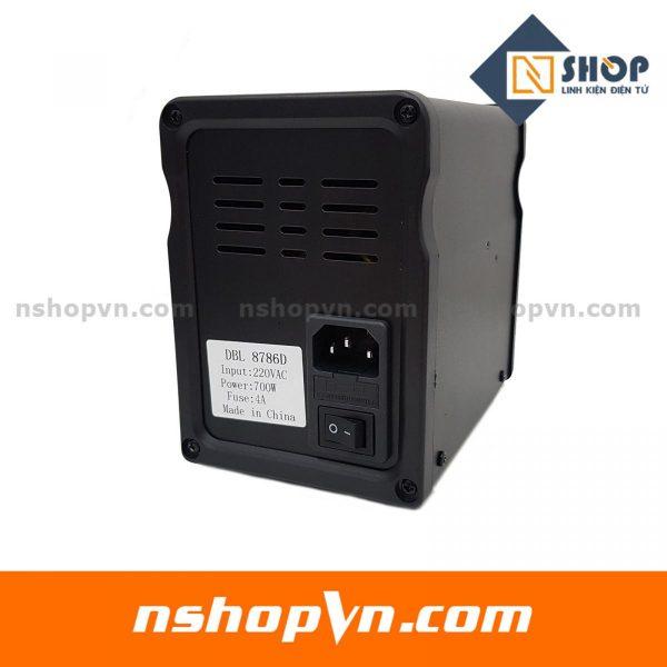Máy hàn và khò điều chỉnh nhiệt độ 8786D có led hiển thị