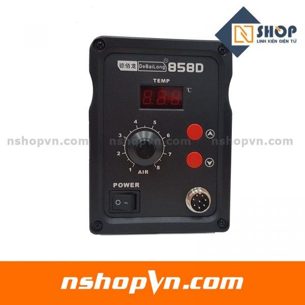 Máy khò điều chỉnh nhiệt độ 858D có led hiển thị