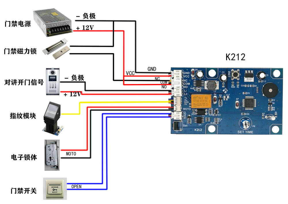 Sơ đồ module giải mã và điều khiển cảm biến vân tay K212