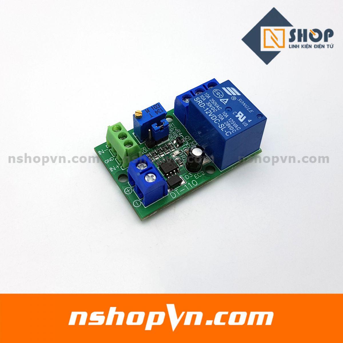 Module so sánh điện áp relay 12VDC