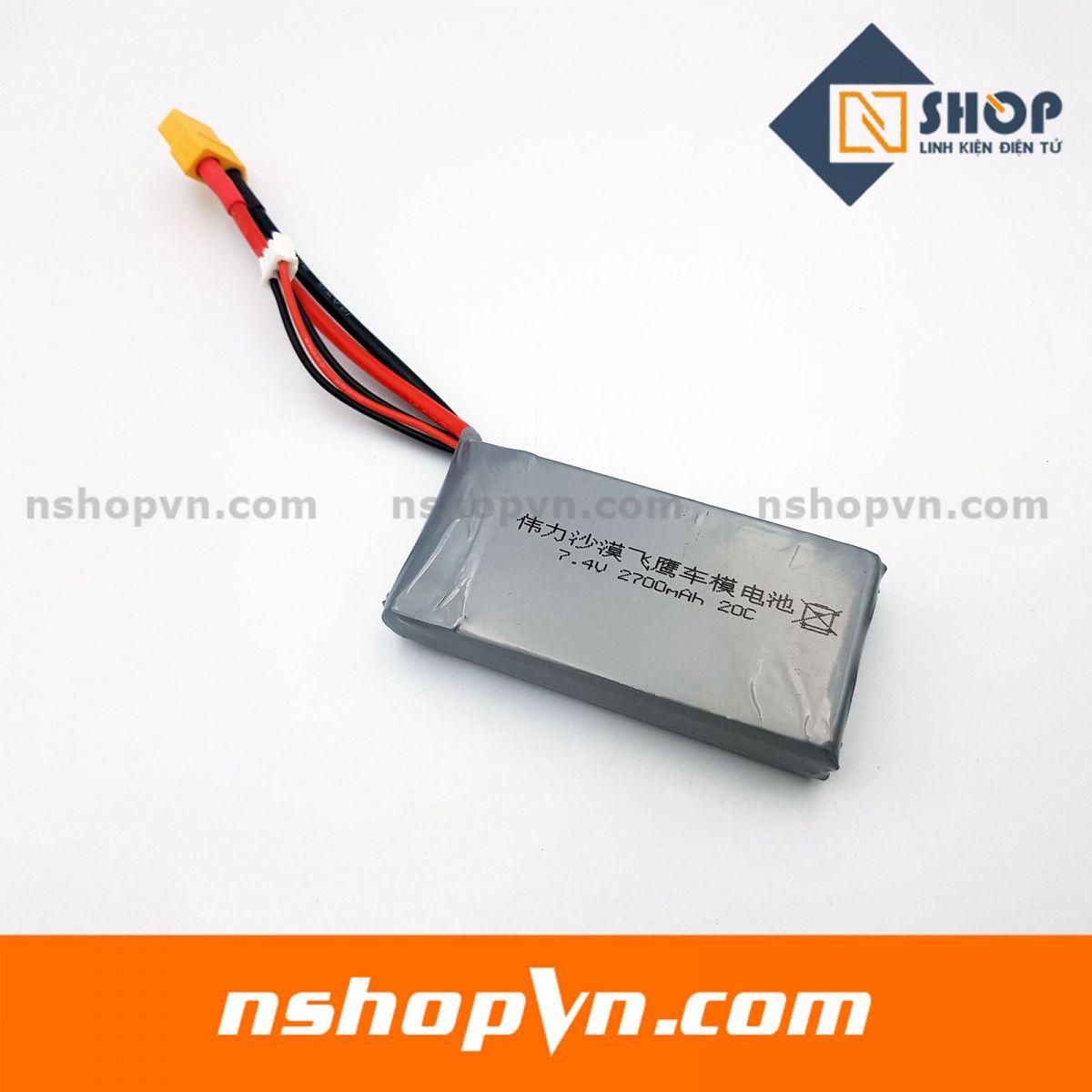 Pin Lipo 2s 7.4V 2700mAh 20C
