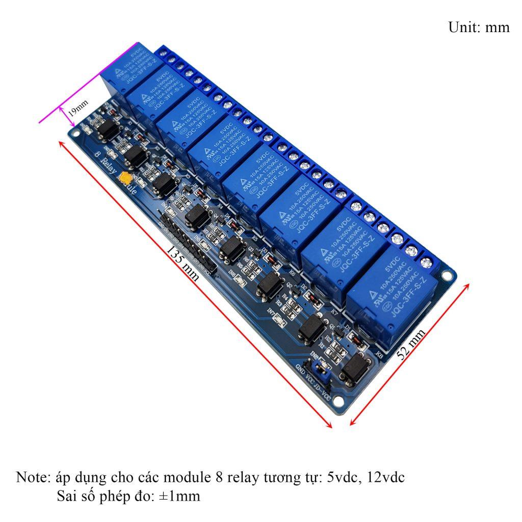 Module 8 Relay Với Opto Cách Ly