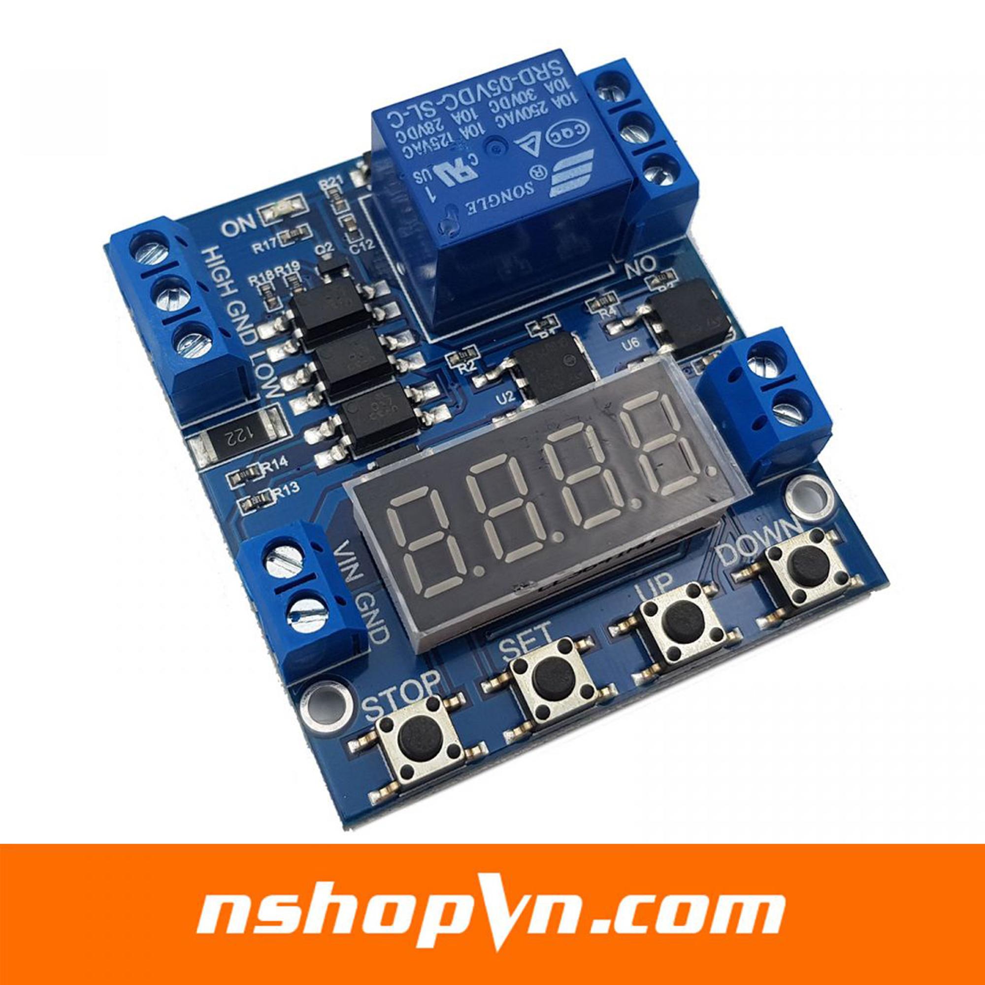 Module kích hoạt relay tạo trễ, giới hạn điện áp XY-J05