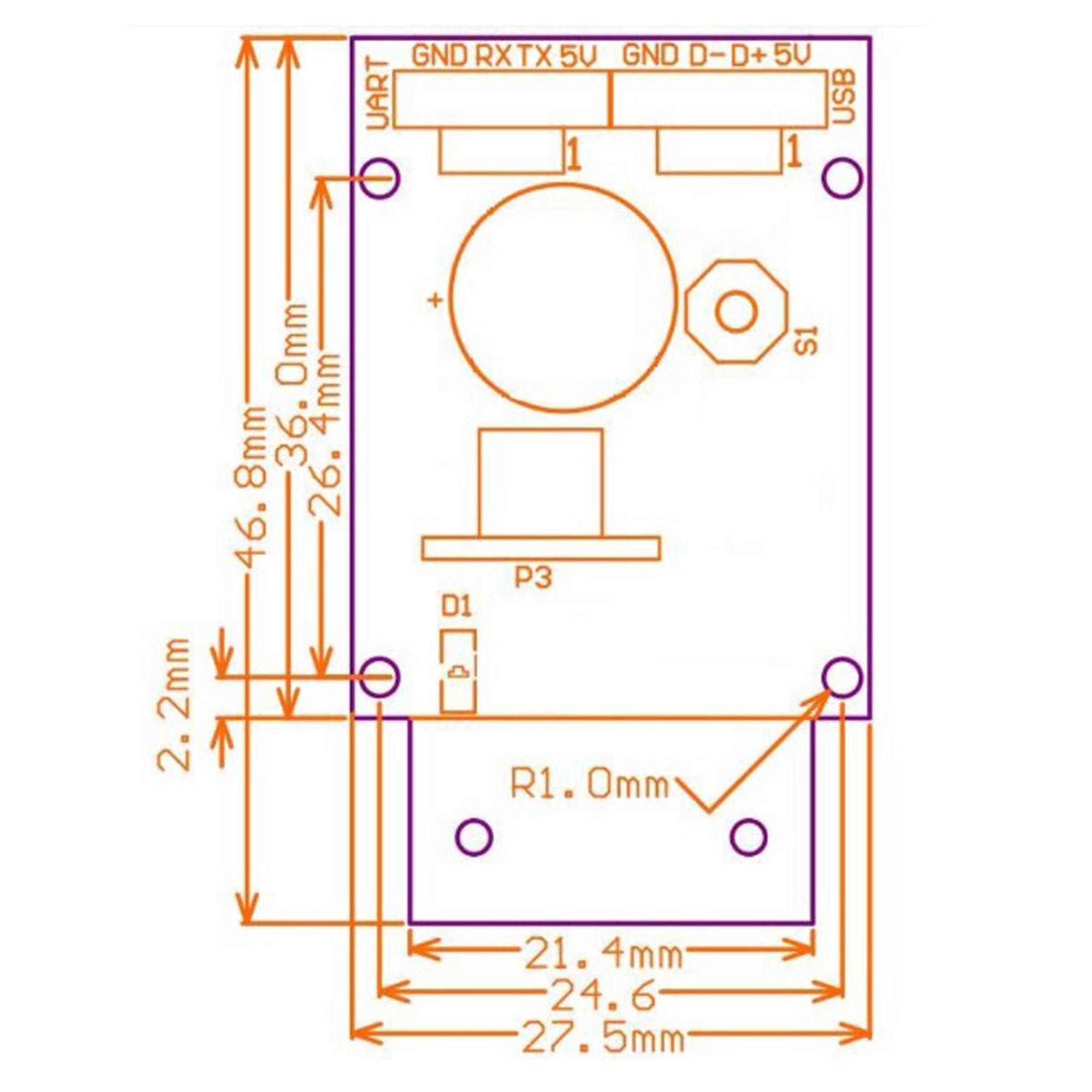 Kích thước của Module quét mã vạch 1D/2D/QR