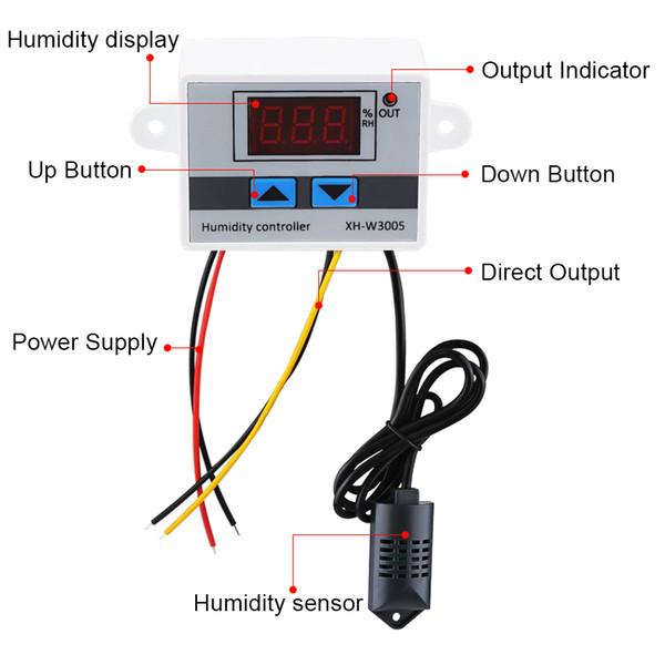 Sơ đồ mạch Bộ khống chế độ ẩm XH-W3005 220V 1500W