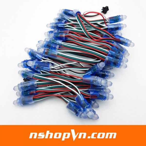 Dây led 50 bóng WS2811 5VDC đế 12mm