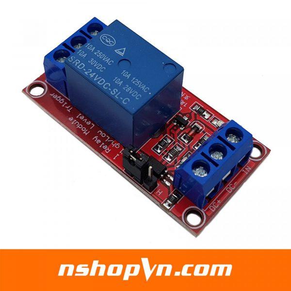 Module 1 relay với opto cách ly kích H/L 24VDC 10A