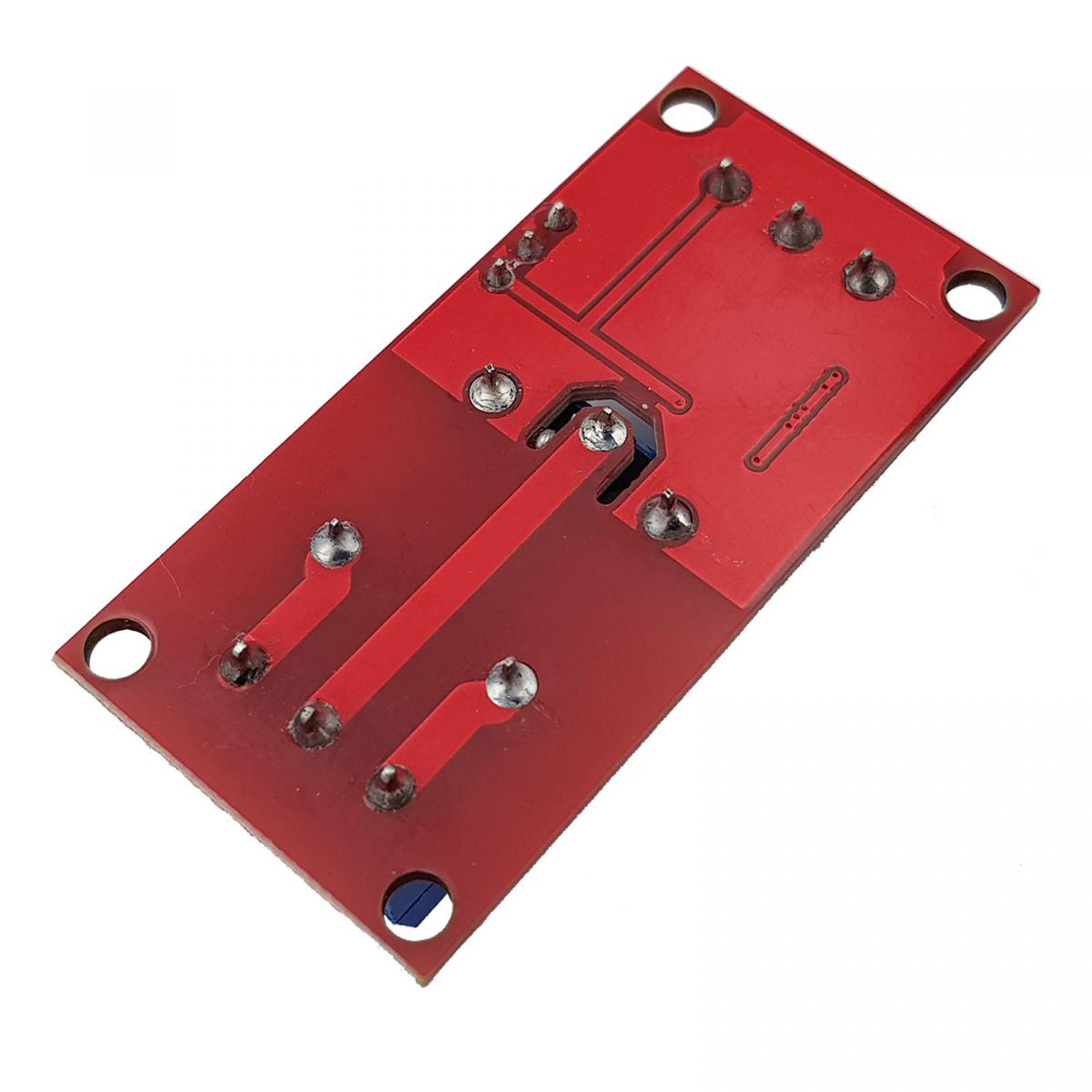 Mặt sau của Module 1 relay với opto cách ly kích H/L 24VDC 10A