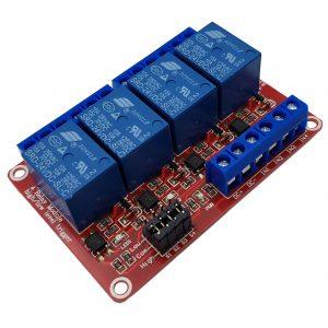 Module 4 Relay với Opto cách ly Kích H/L 24VDC 10A