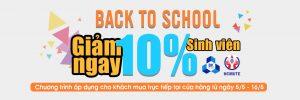 Siêu giảm giá mừng ngày tựu trường