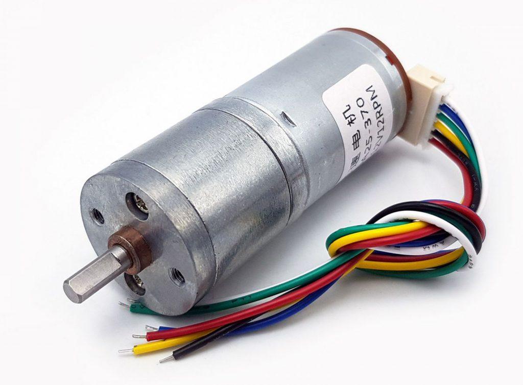 Động cơ DC giảm tốc GA25 Encoder 12rpm