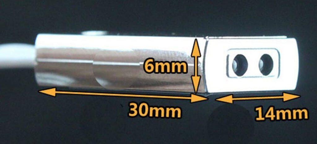 Kích thước của Công tắc cảm biến bật tắt Led LP-5026M 12VDC