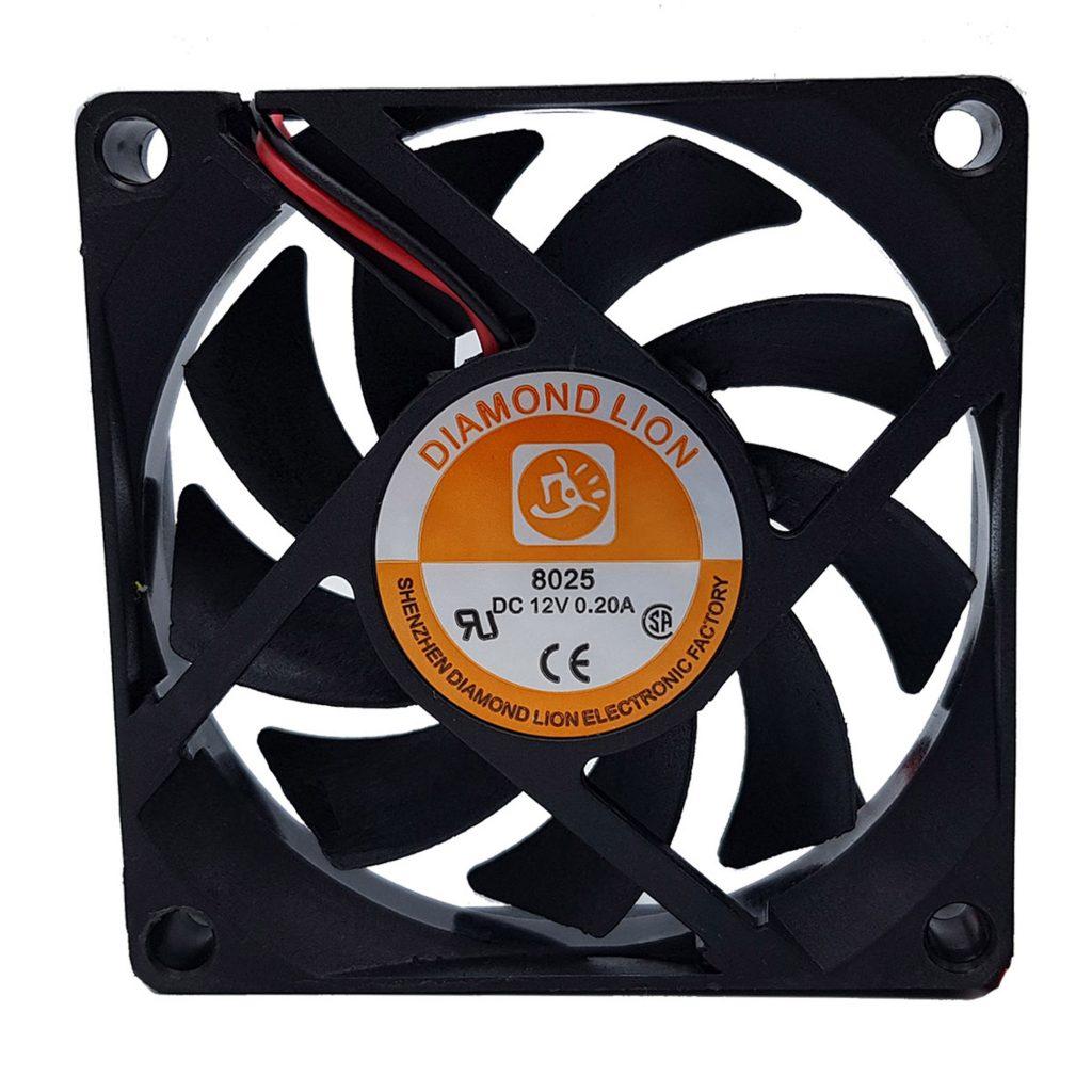 Quạt tản nhiệt 7x7cm 12VDC 2 dây