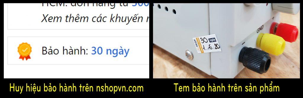 Bảo hành sản phẩm tại Điện tử Nshop