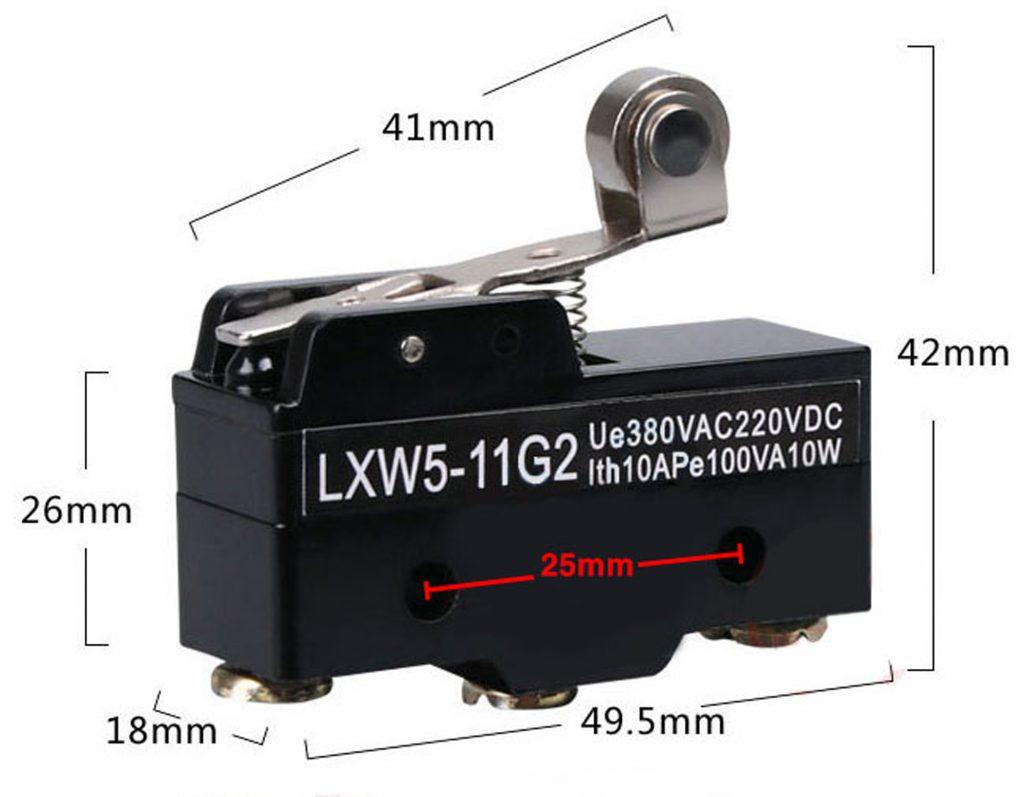 Kích thước của Công tắc hành trình Lxw5-11g2