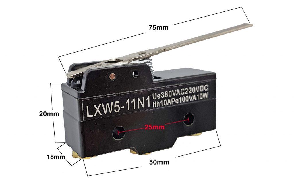 Kích thước của Công tắc hành trình Lxw5-11n1