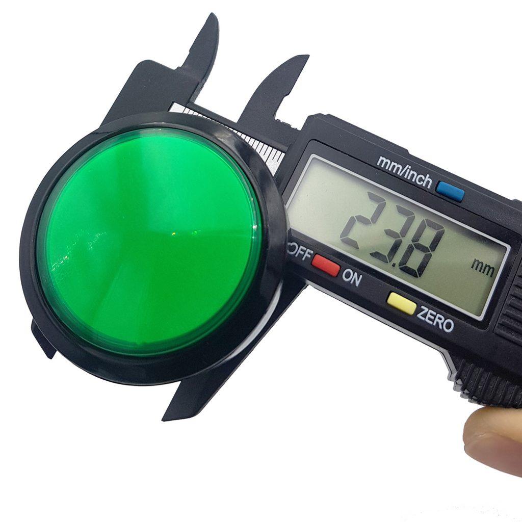 Kích thước của Nút nhấn điều khiển trò chơi 45mm màu xanh lá