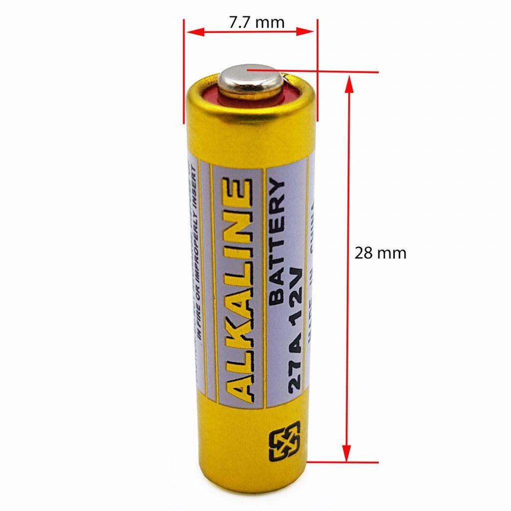 Kích thước của Pin Alkaline 12V 27A