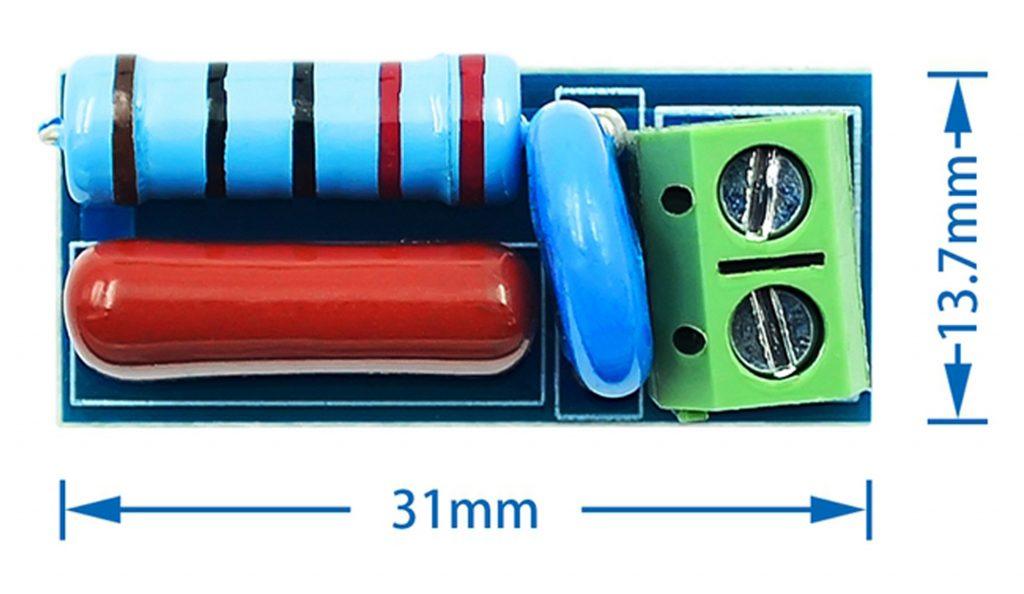 Kích thước của Mạch chống nhiễu điện từ, bảo vệ tiếp điểm LC Technology