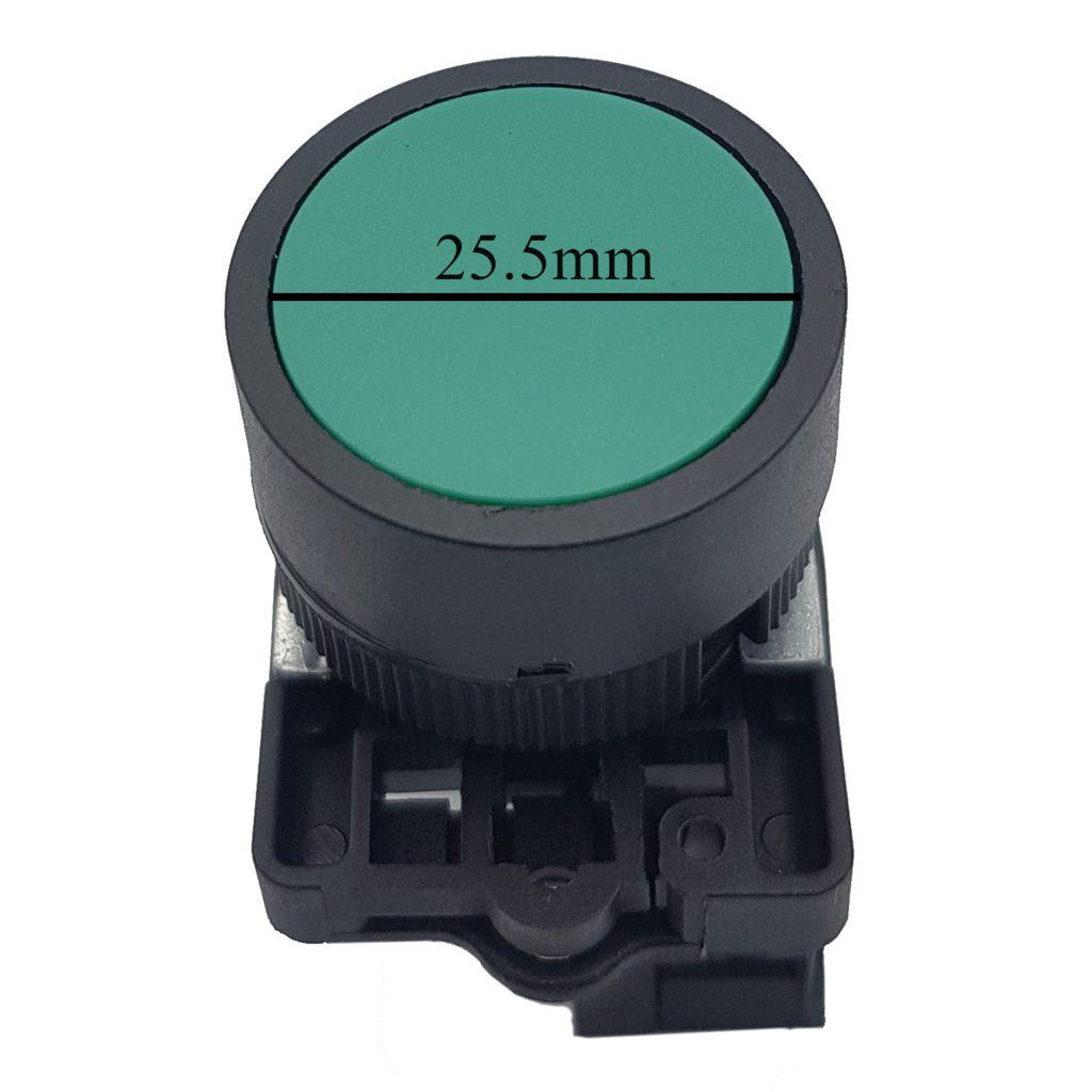 Kích thước của Nút nhấn xb2-ea31 zb2-be101 thường mở màu xanh