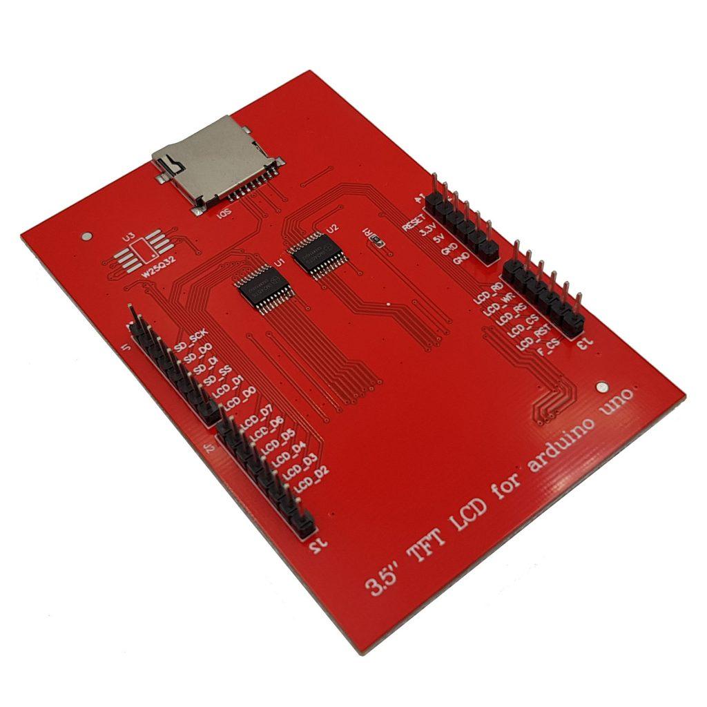 Mặt sau của Màn hình cảm ứng TFT Arduino Shield 3.5 inch H896 1-7