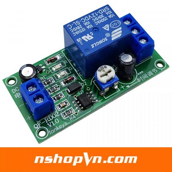 Module relay tạo trễ 0 - 60s QF-RD02 V1.0