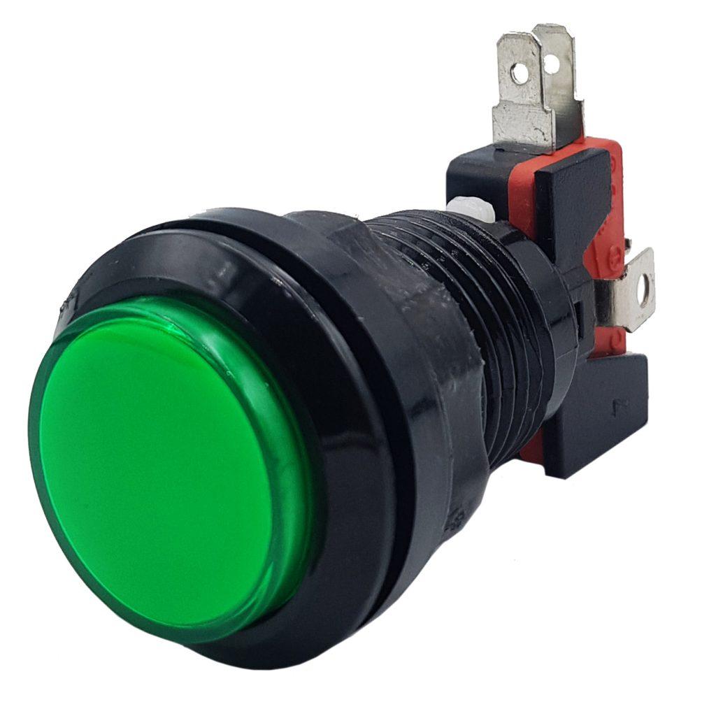 Nút nhấn điều khiển trò chơi 33mm màu xanh lá