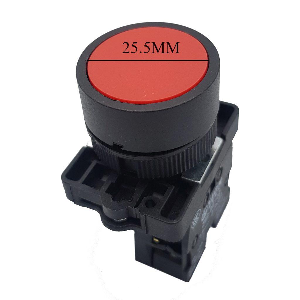 Nút nhấn xb2-ea42 zb2-be102 thường đóng - màu đỏ