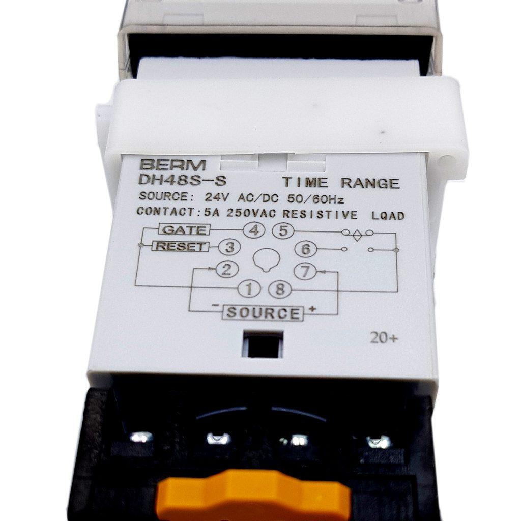 Sơ đồ đấu nối của Bộ hẹn giờ Timer Dh48s-s Berm 24vac/dc