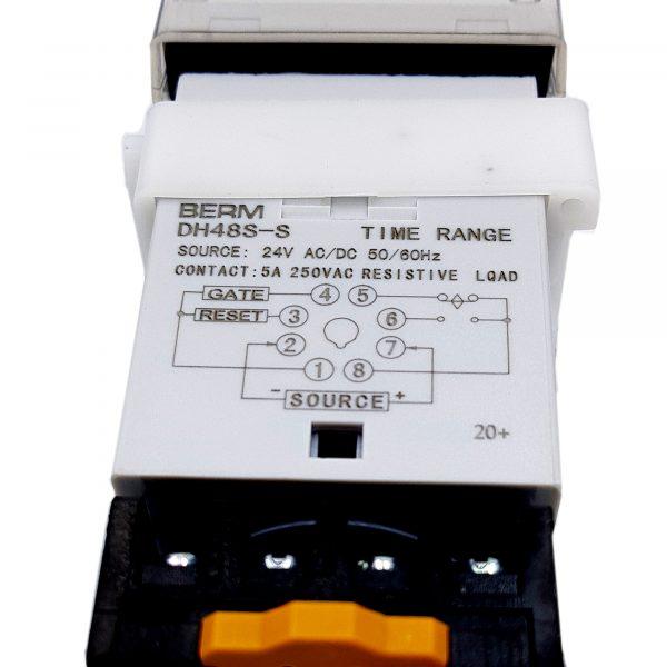 Bộ hẹn giờ Timer DH48S-S BERM 24VAC-DC / 220VAC
