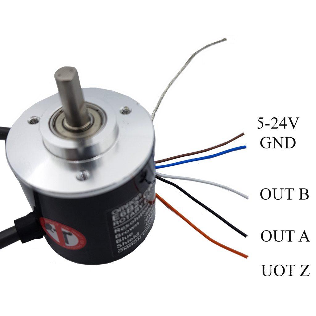 Sơ đồ đấu nối của Encoder Omron E6B2 - CWZ6C 2000 xung
