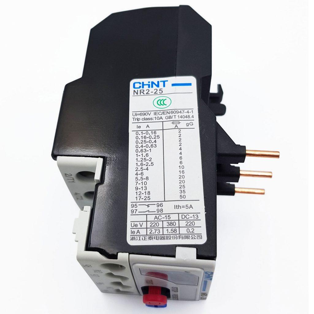 Relay nhiệt CHINT NR2-25 (Rơ le nhiệt 9-13A / Rơ le nhiệt 17-25A)