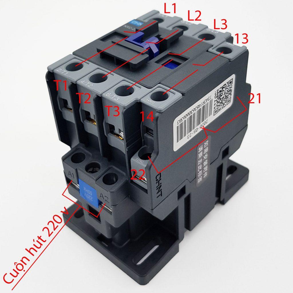 Sơ đồ nguyên lý của Contactor CHINT NXC-25 25A 11kW