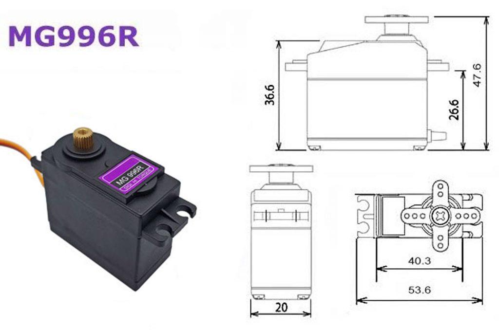 Động Cơ RC Servo MG996R bánh răng đồng