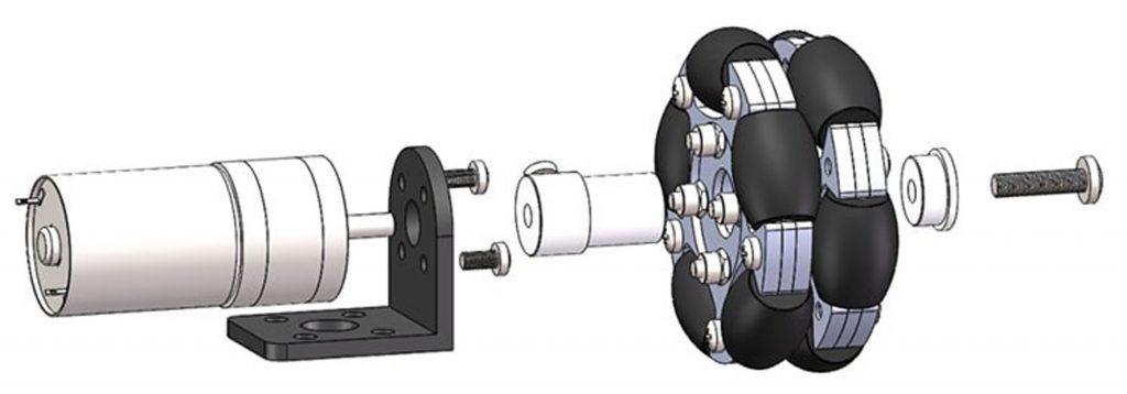 Hướng dẫn lắp Khớp nối bánh xe Omni, Mecanum với trục động cơ 5mm