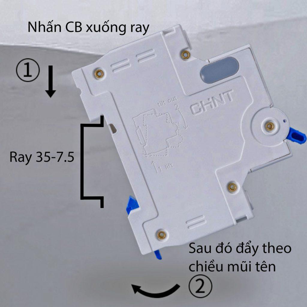 Hướng dẫn lắp đặt MCB 1P 6kA CHINT NXB-63 (chung cho D20 và D63)
